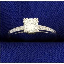 .6 ct TW Diamond Engagement Ring in Platinum