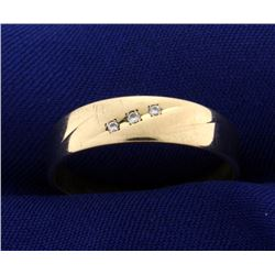 Men's Three Diamond Ring