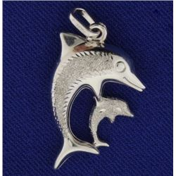 Mother Child Dolphin Pendant
