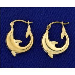 Dolphin Hoop Earrings