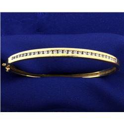 1ct TW Diamond Bangle Bracelet