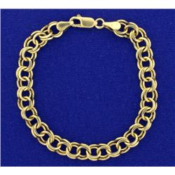 7 Inch Double Link Charm Bracelet