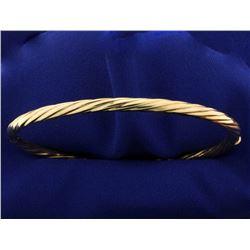 Italian Made Twisting Bangle Bracelet