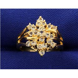 3/4 ct TW CZ Ring in 14k Yellow Gold