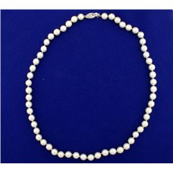 Akoya Pearl Necklace with 14k Gold Clasp