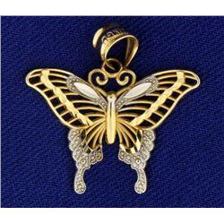Butterfly Pendant in 14k Gold