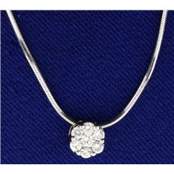 Italian Made .2ct TW Diamond Pendant Necklace