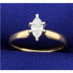 3/8ct Marquise Diamond Ring