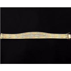 Italian Made Rose, White, & Yellow Gold Bracelet