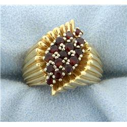 1/2ct Total Weight Garnet Ring