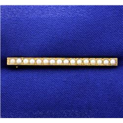 Antique Seed Pearl Bar Pin
