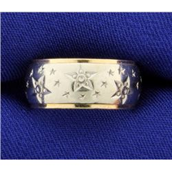 Star Design Band Ring