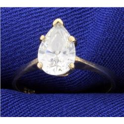 1.5ct CZ Solitaire Ring