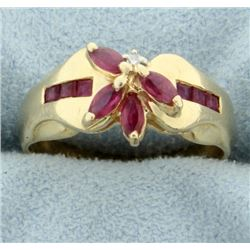 3/4 ct TW Ruby and Diamond Ring