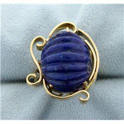 Cabochon Lapis Ring