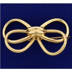 Knotted Bow Pin