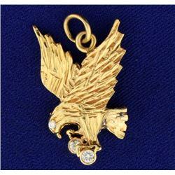Diamond Eagle Pendant