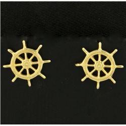 Ship Wheel Earrings