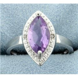 1.6ct Marquise Amethyst Statement Ring