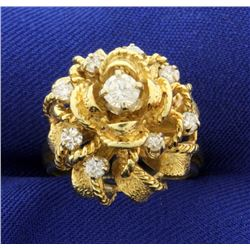 2/3 ct TW Custom Made Ribbon Design Diamond Ring