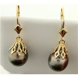 Dangle Black Pearl Earrings