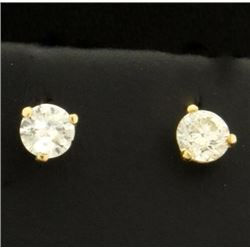 1/2 Carat Diamond Stud Earrings