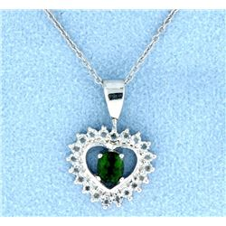 Tourmaline & White Topaz Pendant with Chain
