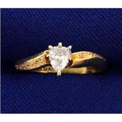 1/4 Carat Pear Shape Diamond Solitaire Ring