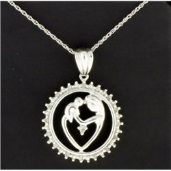 Mother and Child 1/4 Ct TW Diamond Pendant and Chain