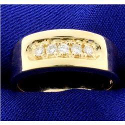 Diamond Wedding Band in 14k Yellow Gold