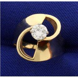 1/2 ct Solitaire Designer Diamond Ring