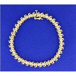 4ct TW Champagne Diamond Tennis Bracelet