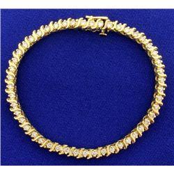 2ct Total Weight Diamond Tennis Bracelet