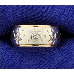 Star Design Band Ring