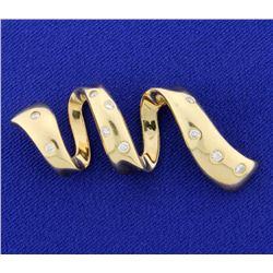 Unique 1/3ct TW Diamond Slide for Neck Chain or Omega