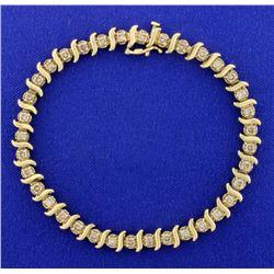 3ct TW Champagne Diamond Tennis Bracelet