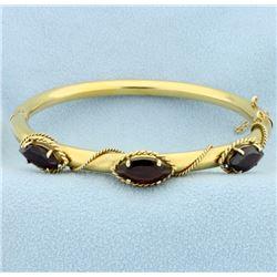 6ct TW Garnet Bangle Bracelet