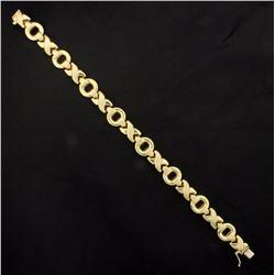 Gold X's & O's Bracelet