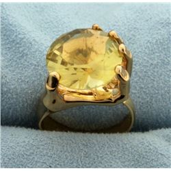 Unique Hand Holding 7ct Citrine Gemstone Ring