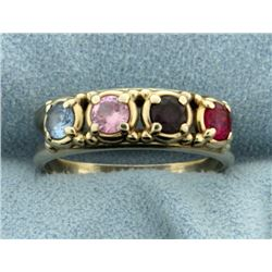 Multi Colored Gemstone Ring