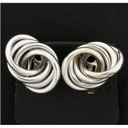 4 Ring Modern Style Clip On Earrings