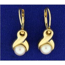 Designer Drop Pearl Earrings