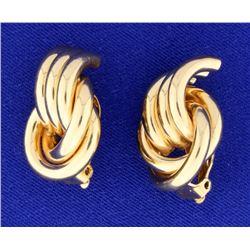 Large Designer Open Knot Style Earrings