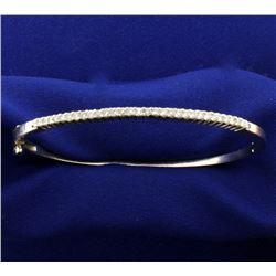 1/2ct TW Diamond Bangle Bracelet