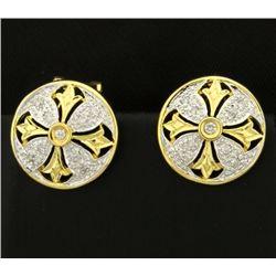 Diamond Designer Earrings in 14k Gold