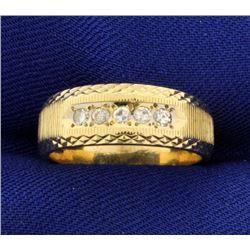Diamond Wedding Band Ring With Unique Design