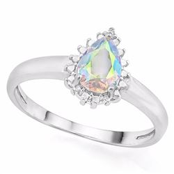 Mercury Mystic Topaz Ring with Diamond in Sterling Silver