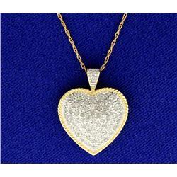 1 ct TW Diamond Heart Pendant