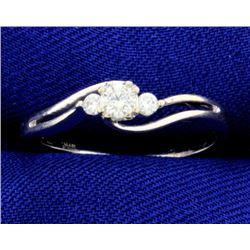1/5 ct TW Diamond White Gold 3 Stone Ring