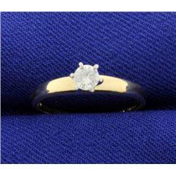 1/5 Carat Diamond Solitaire Engagement Ring